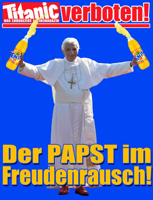 """Titanic-Magazin - """"Freude beim Papst"""" - (C) Titanic-Magazin - direkt verlinkt"""