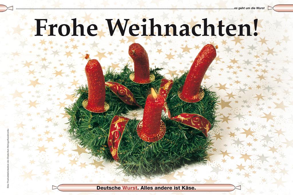 Frohe Weihnachten Freundin.Frohe Weihnachten Deutsche Wurst Postkarten Titanic Das