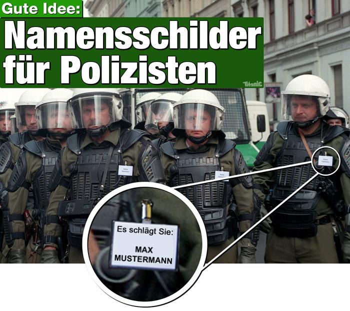 Kenzeichnung Polizei