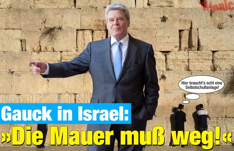Gauck klagt an - E-Postkarte von Titanic - Zum Anbieter per Klick